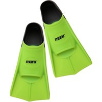 Maru Training Fins - Lime and Black