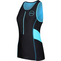 Zone3 Womens Activate Top - Black and Turquoise