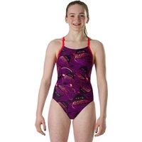 Speedo Girls Endurance 10 Neon Noodle Crossback Swimsuit