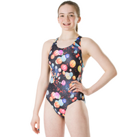 Speedo Girls Endurance 10 Mizu Lanterns Splashback Swimsuit