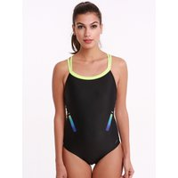 Speedo HydroSense Flowback Swimsuit - Black/Zest/Blue
