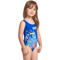 Zoggs Tots Girls Undersea Scoopback Swimsuit