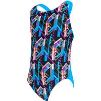 Zoggs Girls Shimmer Flyback Swimsuit