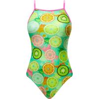 The Finals Girls Coolada Foil Flutter Back Swimsuit