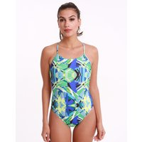 Nike Prism Punch Cut Out Swimsuit - Racer Blue
