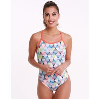 Arena Linear Triangle Challenge Back Swimsuit - White