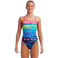 Funkita Girls Flamingo Flood Single Strap Swimsuit