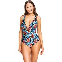 Zoggs Hybrid Tropics Wide X Back Swimsuit