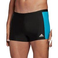 Adidas Fit 3 Second Swim Trunk - Black/Cyan
