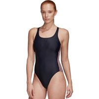 Adidas Fit Suit 3 Stripe Cup Swimsuit - Ink/Pink
