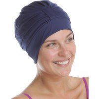 Fashy Turban Swimhat with Adjustable Velcro Strip - Navy