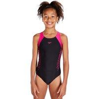 Speedo Girls Endurance 10 Boom Splice Muscleback - Black and Pink
