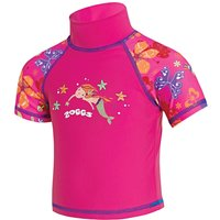 Zoggs Tots Girls Sun Protection Top - Pink
