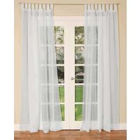 Buy 1 get 1 fee Tab Top Voile Curtain Panel