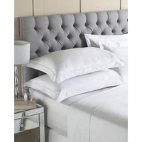 Luxury Egyptian Cotton Flat Sheet Silver