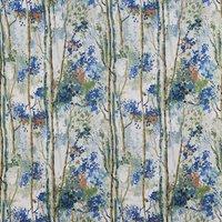 Silver Birch Curtain Fabric Sapphire