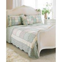 Avignon Quilted Bedspread Duckegg Green