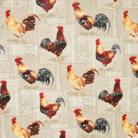 Cocorico Curtain Fabric Beige