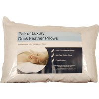 Luxury 100% Duck Feather Pillows White