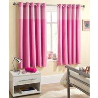 Sweetheart Blackout Eyelet Curtains Pink