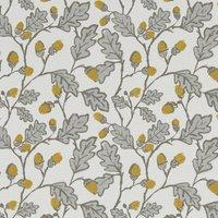 Acorn Trail Curtain Fabric Natural