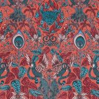 Emma Shipley Amazon Velvet Curtain Fabric Red