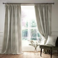Ashwell Ready Made Lined Curtains Silver