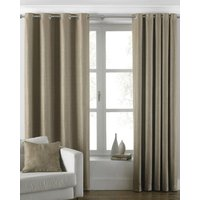 Atlantic Ready Made Lined Eyelet Curtains Latte