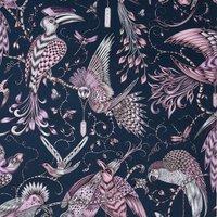 Emma Shipley Audubon Curtain Fabric Pink