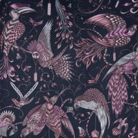 Emma Shipley Audubon Velvet Curtain Fabric Pink