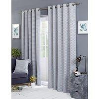 Balmoral Ready Made Lined Eyelet Curtains Silver