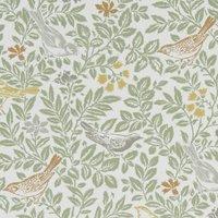 Bird Song Curtain Fabric Autumn