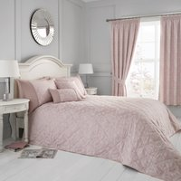 Blossom Quilted Bedspread Blush