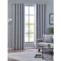 Byron Ready Made Eyelet Curtains Monochrome