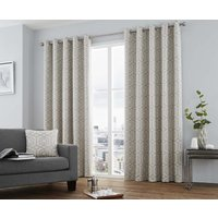 Camberwell Ready Made Lined Eyelet Curtains Silver