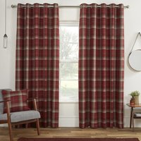 Carnoustie Ready Made Blackout  Eyelet Curtains Red