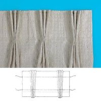 Pinch Pleat Pleat Curtain Tape Pack White