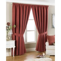 Devere Ready Made Curtains Burgundy