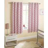 Eclipse Ready Made Thermal Blackout Eyelet Curtains Pink