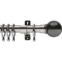 Swish 35mm Curzon Curtain Pole Satin Steel