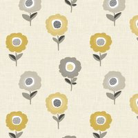 Elsa Curtain Fabric Ochre