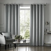 Elstree Ready Made Eyelet Curtains Iceblue