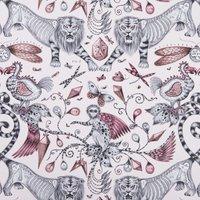 Emma Shipley Extinct Curtain Fabric Pink