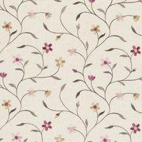 Mellor Curtain Fabric Raspberry