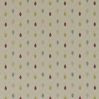 Healey Curtain Fabric Raspberry Duckegg