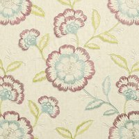 Richmond Curtain Fabric Raspberry Duckegg