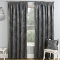 Gemini Ready Made Thermal Blockout Curtains Grey
