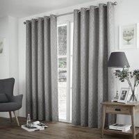 Harlow Thermal Blockout Eyelet Curtains Silver