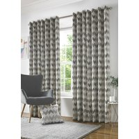 Insignia Ready Made Lined Eyelet Curtains Beige