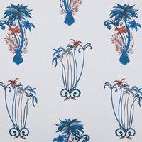 Emma Shipley Jungle Palms Curtain Fabric Blue
